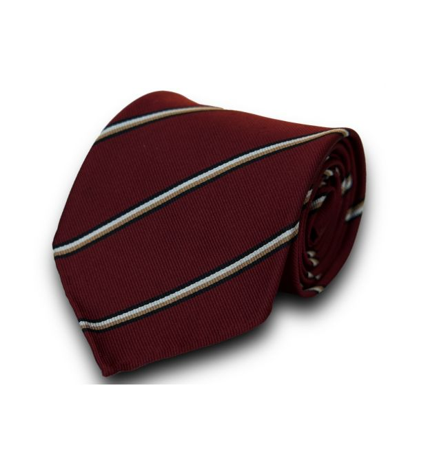 Striped Mahogany Silk Tie