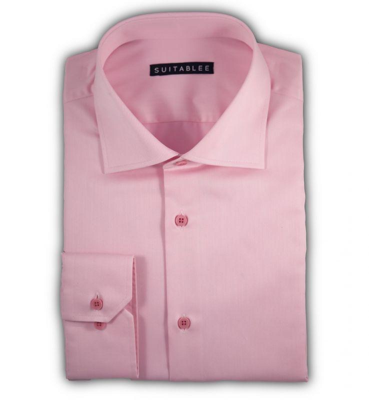 Pink Twill Dress Shirt