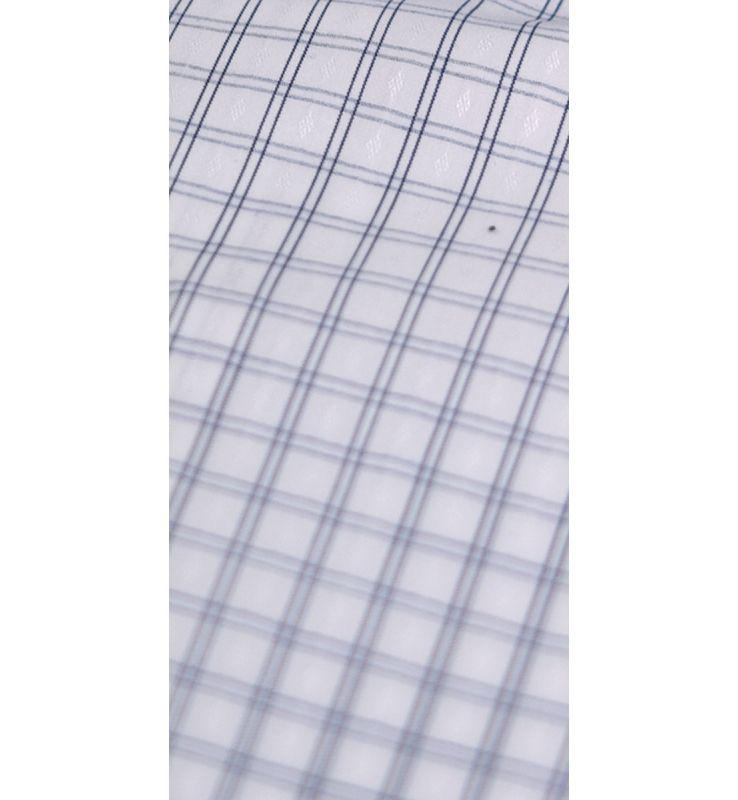Off-White Poplin Check Dress Shirt