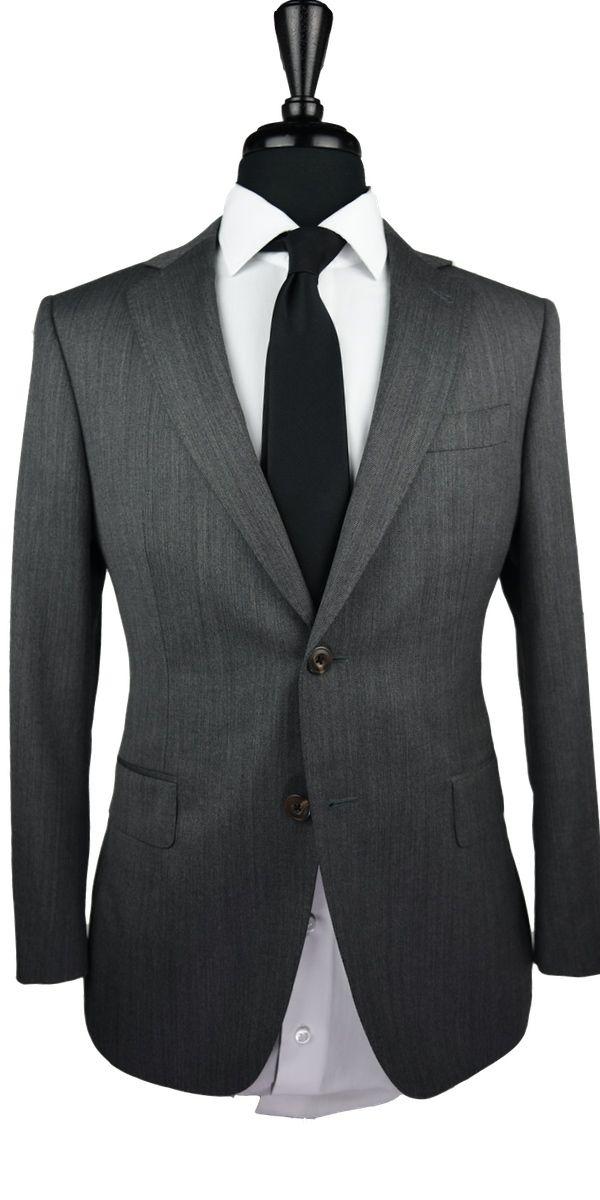 Grey Denim Wool Suit
