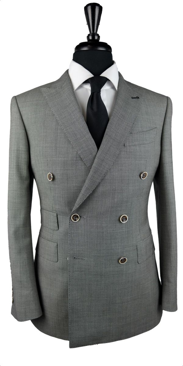 Grey Birdseye Wool Suit