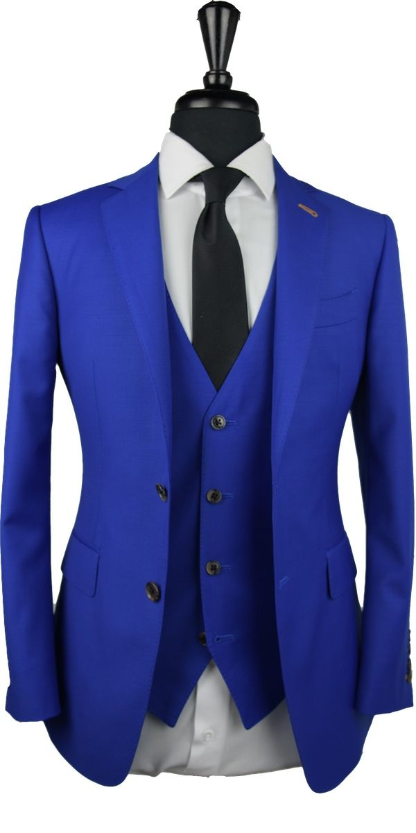 Electric Blue Wool Suit