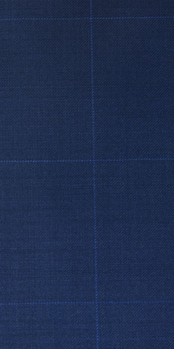 Persian Blue Windowpane Wool Suit