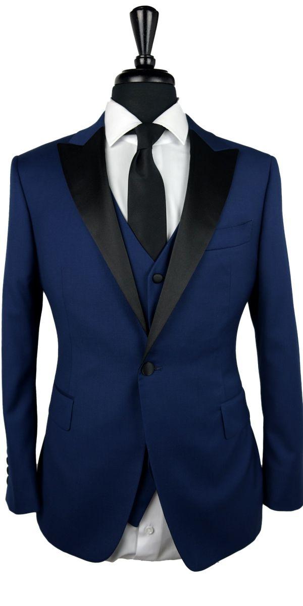 Oxford Blue Peak Lapel Tuxedo