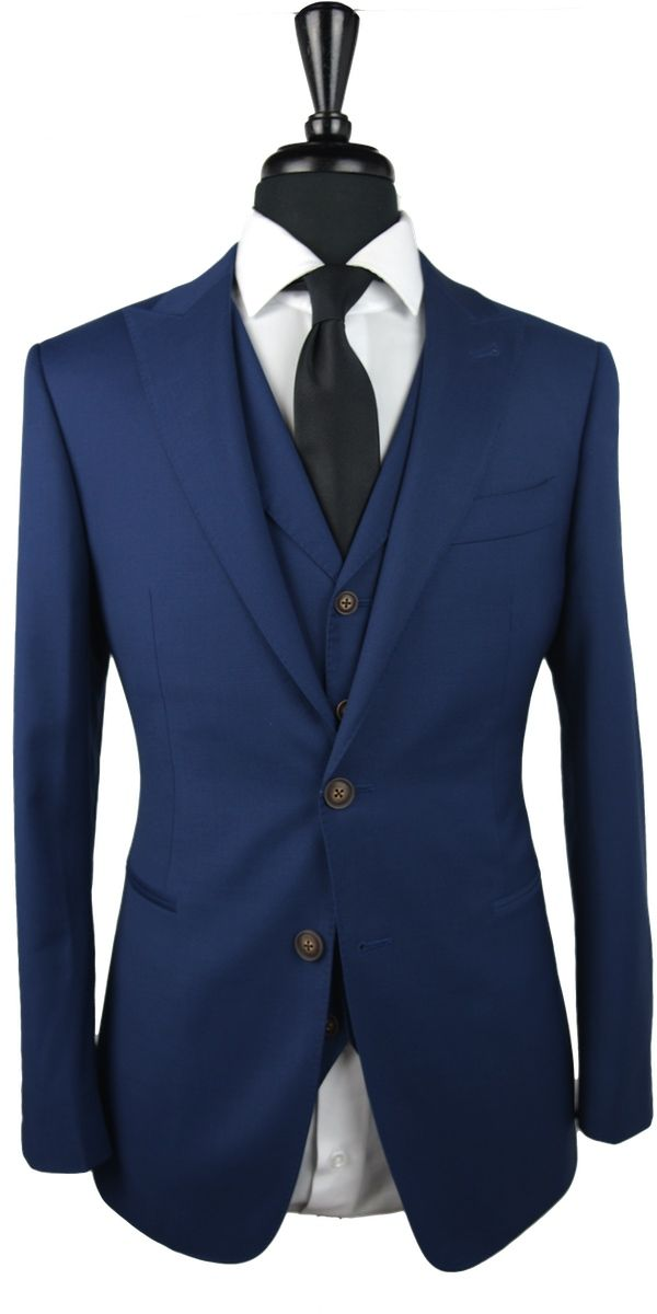 Oxford Blue Twill Wool Suit
