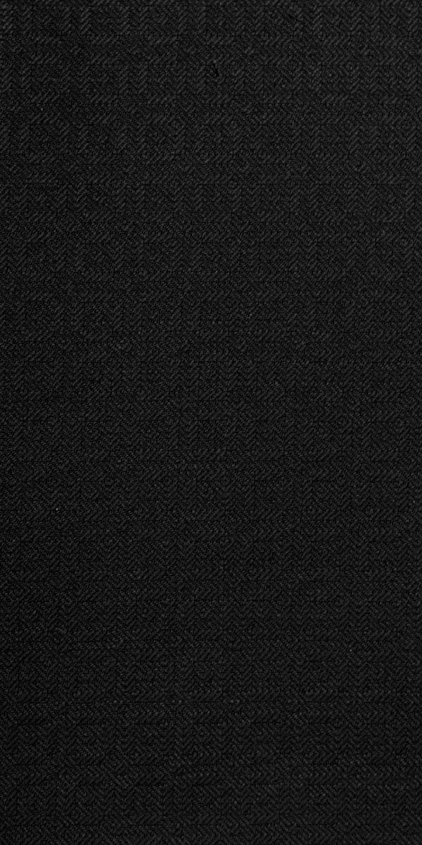 Black Textured Wool Tuxedo