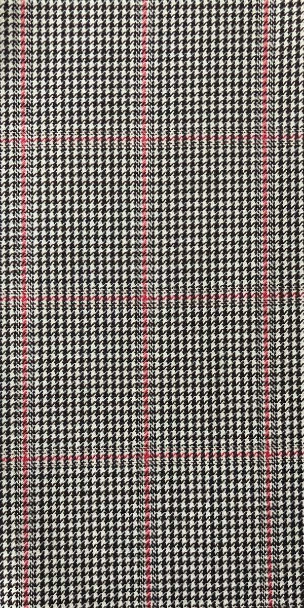 Houndstooth with Red Check Wool Suit