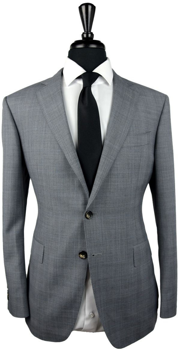 Grey Prince of Wales Wool Suit