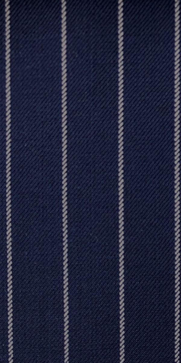 Blue Pinstriped Wool Suit