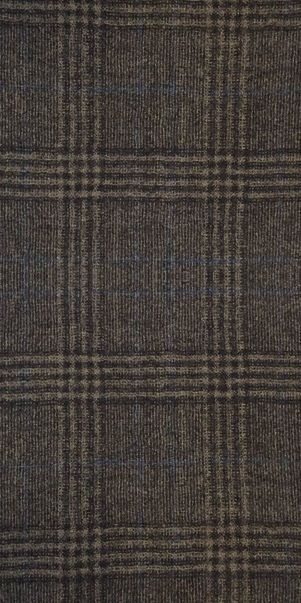 Brown Glen Plaid Wool Suit