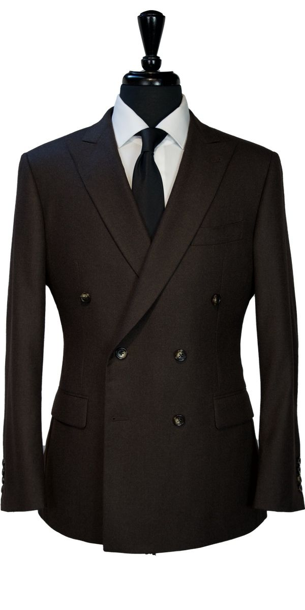 Brown Worsted Wool Suit
