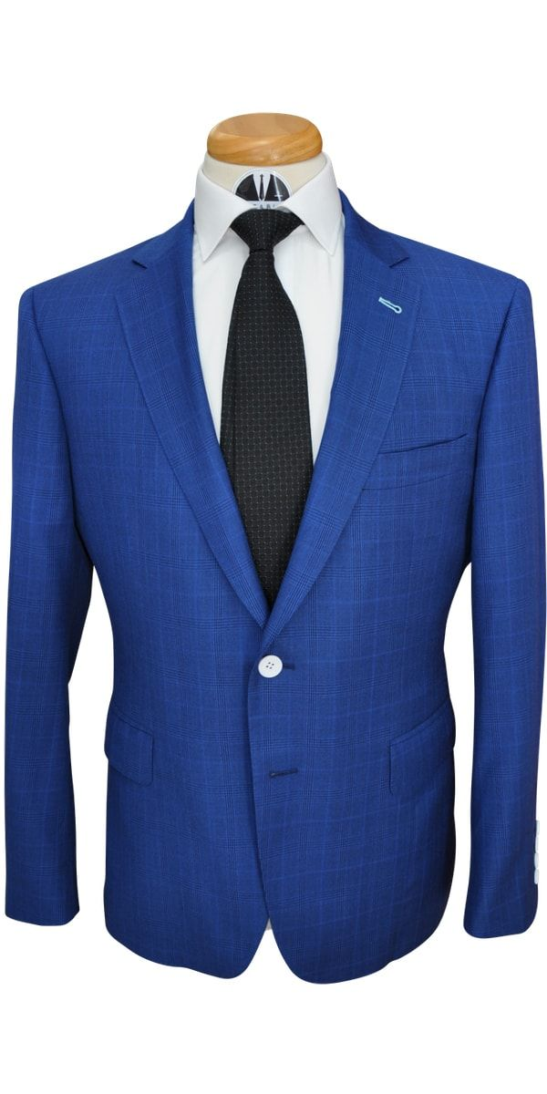 Sapphire Check Wool Suit