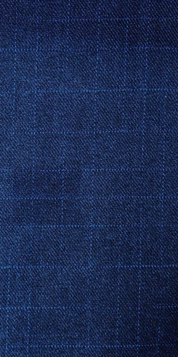 Navy Blue Shooting Star Wool Suit