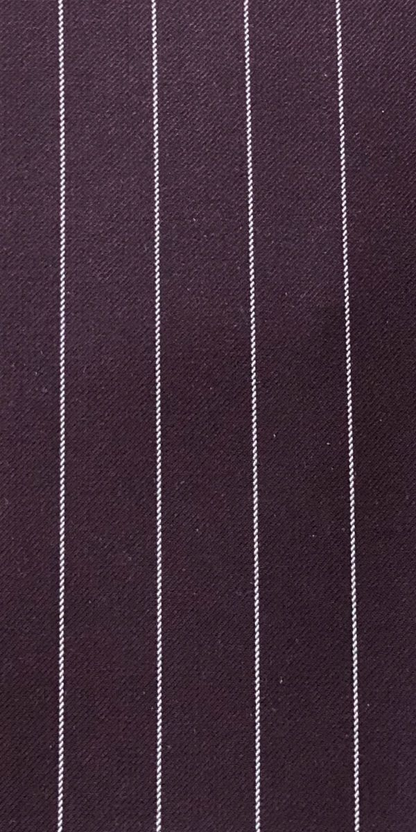 Purple Striped Wool Suit