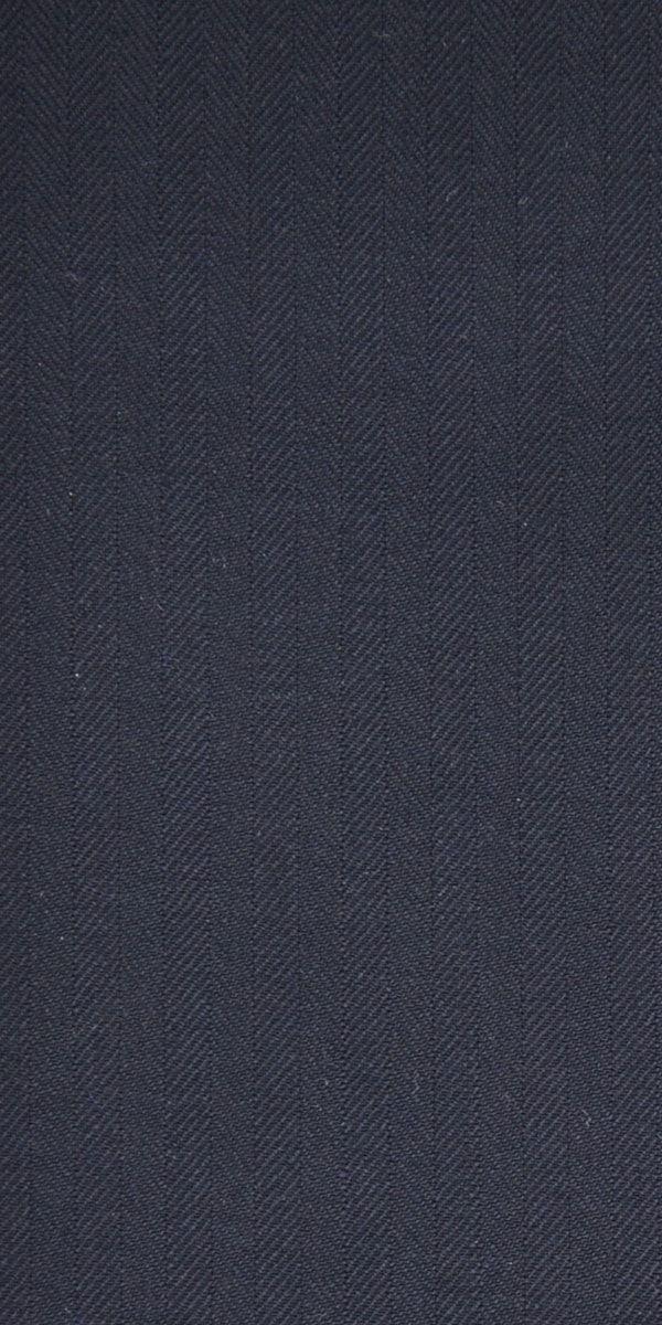Midnight Blue Herringbone Wool Suit