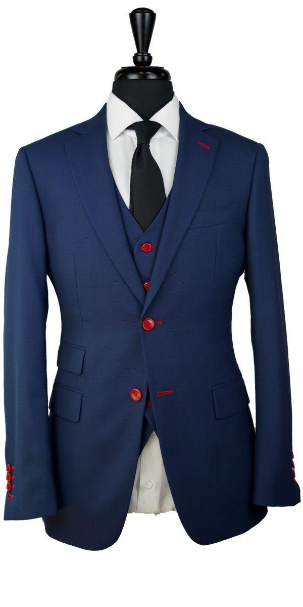 Yale Blue Birdseye Wool Suit