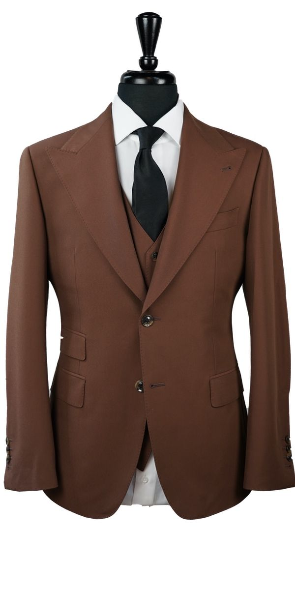 Cinnamon Brown Wool Suit