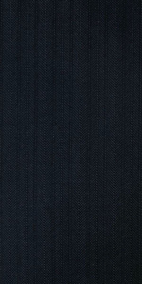Midnight Blue Herringbone Striped Suit
