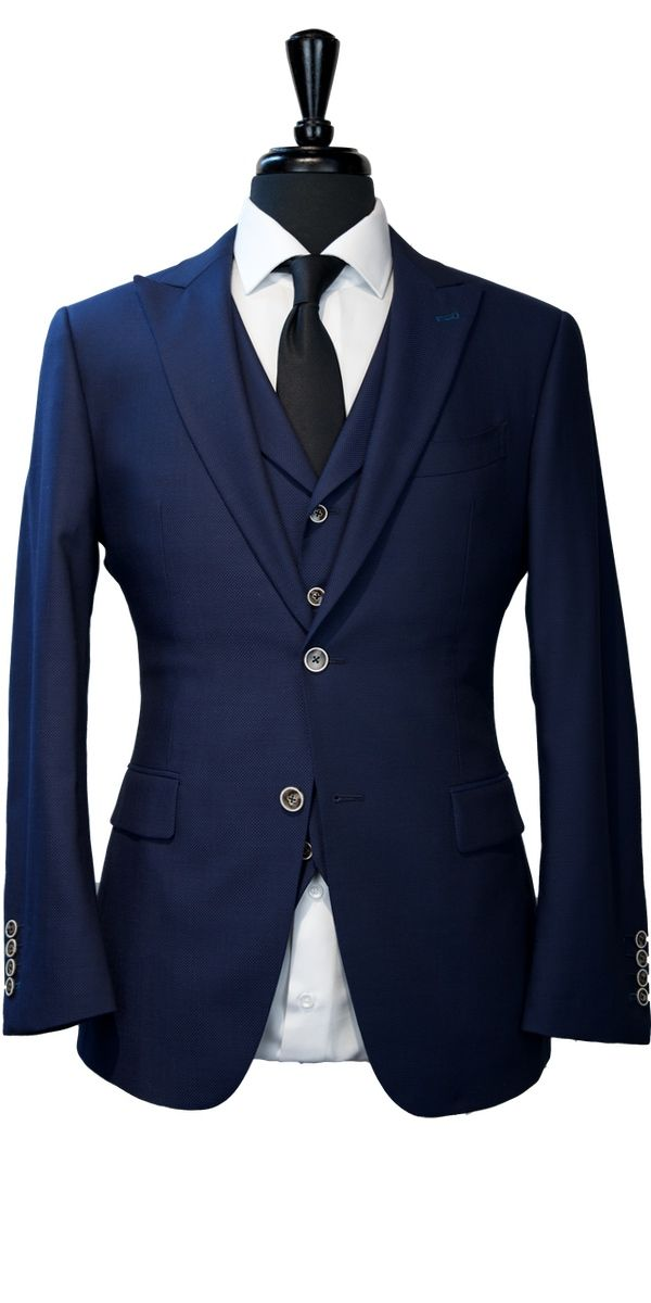 Blue Birdseye Wool Suit