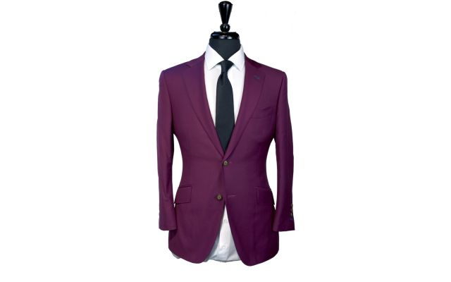 Purple Wool Suit