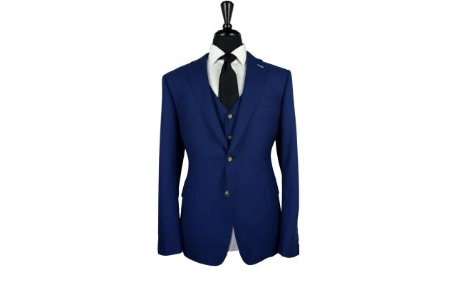 Egyptian Blue Birdseye Wool Suit