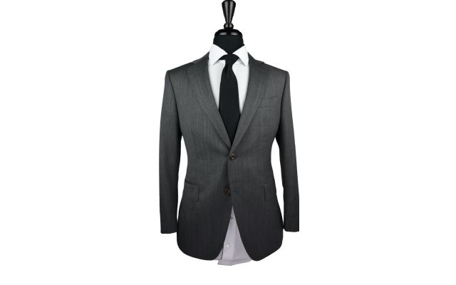 Grey Denim Wool Suit