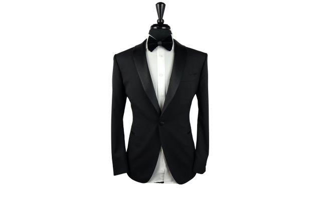 Solid Black Wool Tuxedo
