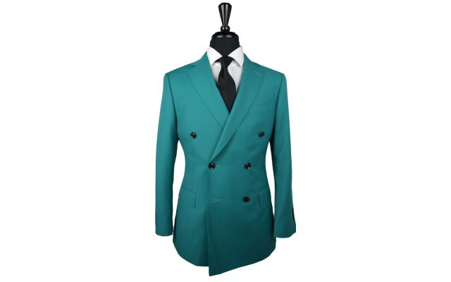 Aquamarine Wool Suit