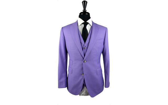 Lilac Wool Suit