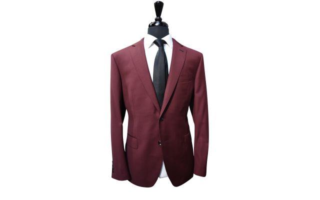 Classic Burgundy Wool Suit