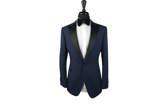 Blue Birdseye Wool Tux