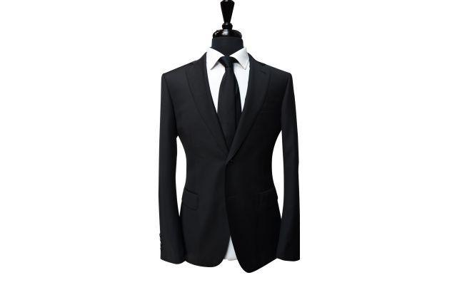 Classic Black Wool Suit