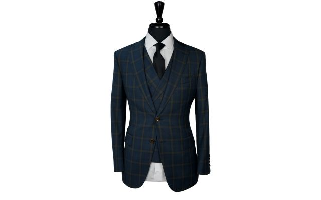 Pine Green Plaid Wool Suit