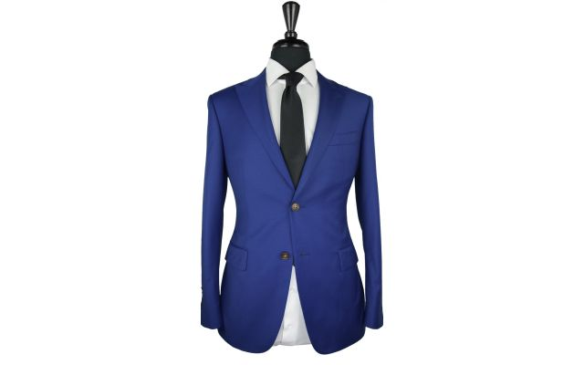 Royal Blue Twill Wool Suit