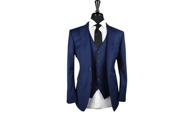 Navy Blue Wool Suit