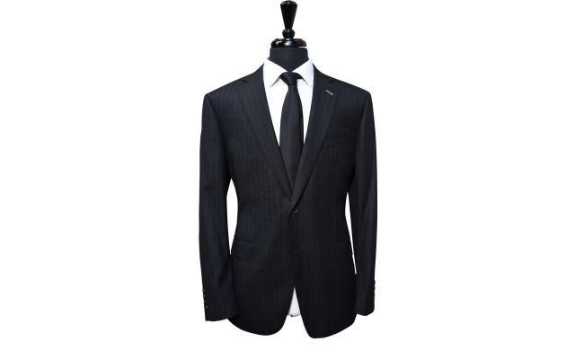 Charcoal Subtle Pinstripe Wool Suit