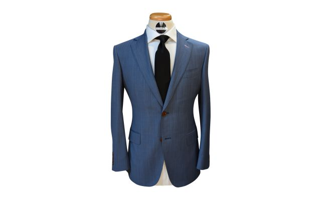 Denim Blue Wool Suit