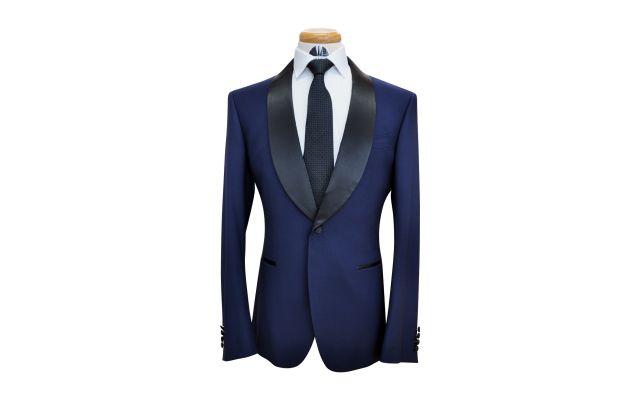 Oxford Blue Custom Wool Suit