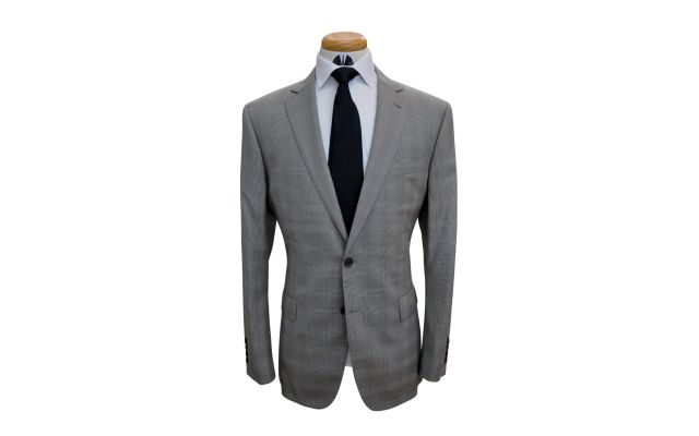 Khaki Plaid Wool Suit