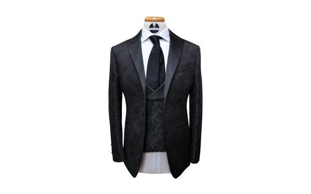 Black Jacquard Tuxedo