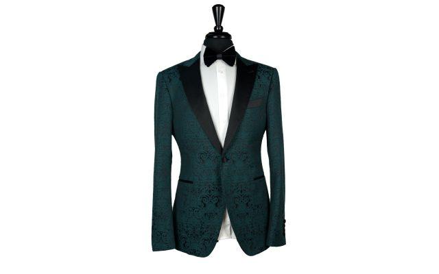 Pine Green Jacquard Tuxedo