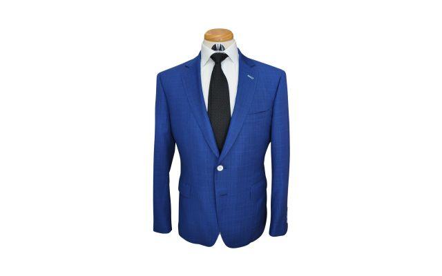 Sapphire Check Custom Wool Suit