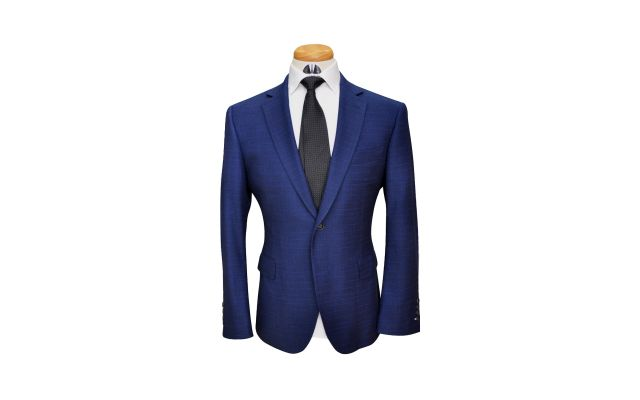 Navy Blue Shooting Star Wool Suit