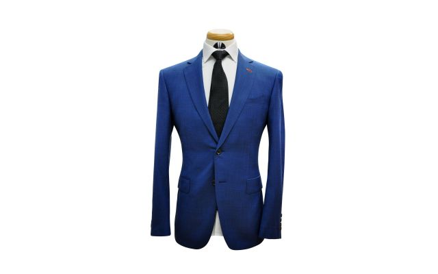 Cobalt Textured Custom Wool Suit