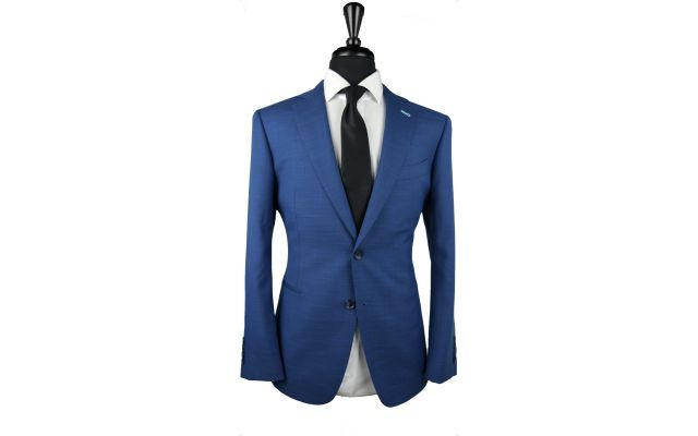 Cobalt Textured Wool Suit