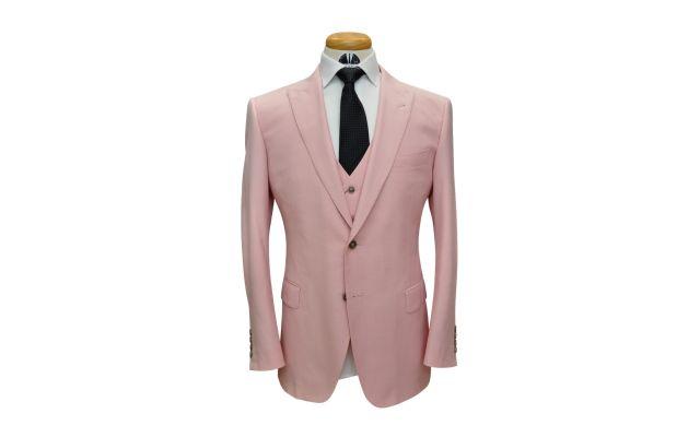 Pink Custom Wool Suit