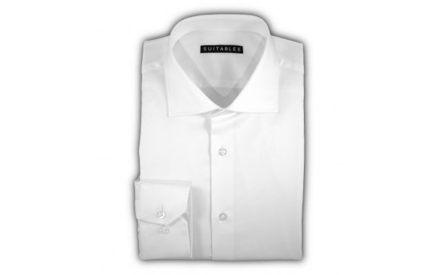 White Diamond Dobby Dress Shirt