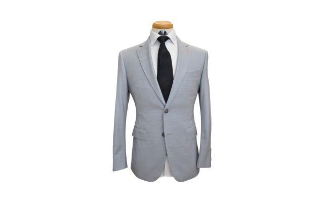 Sky Blue-Grey Custom Wool Suit