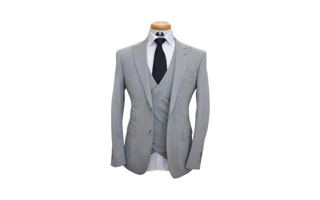 Harbor Grey Wool Suit