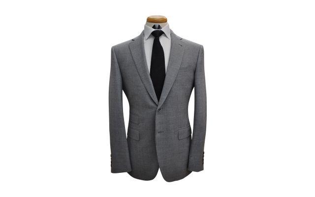 Light Grey Woolen Custom Suit